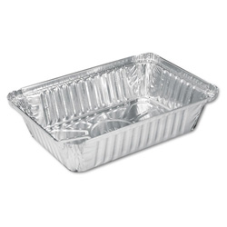 Handi-Foil 206230 Oblong Aluminum Container, 8 7/16 in x 5 15/16 in x 1 13/16 in