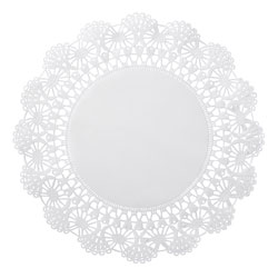 Hoffmaster Cambridge Lace Doilies, Round, 8 in, White, 1000/Carton