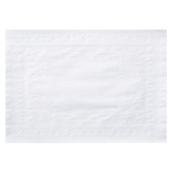 Hoffmaster Classic Embossed Straight Edge Placemats, 10 x 14, White, 1,000/Carton