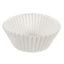 Hoffmaster Fluted Bake Cups, 4 1/2 dia x 1 1/4h, White, 500/Pack, 20 Pack/Carton