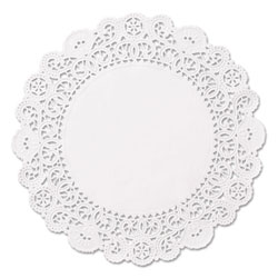 Hoffmaster Brooklace Lace Doilies, Round, 5 in, White, 2000/Carton