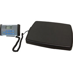 Health-O-Meter Remote Digital Scale/Height Rod, 17-3/4 in x 14 in x 2 in, Black/Gray
