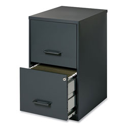 Office Designs Two-Drawer Vertical File Cabinet, 14.25w x 18d x 24.5h, Graphite