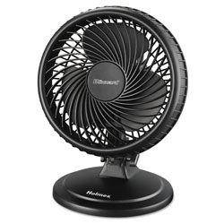 Holmes Lil' Blizzard 7 in Two-Speed Oscillating Personal Table Fan, Plastic, Black