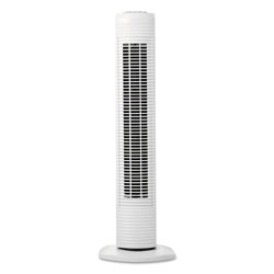Holmes Oscillating Tower Fan, Three-Speed, White, 5 9/10 inW x 31 inH