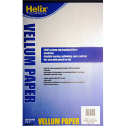 Helix Vellum Pad, 11 in x 17 in, 50 Sheets, White