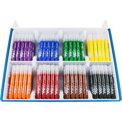 Helix Ultra Washable Markers, Broad Tip, 20/BX, Assorted
