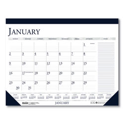 House Of Doolittle Recycled Two-Color Monthly Desk Pad Calendar with Large Notes Section, 22 x 17, 2022