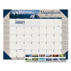 House Of Doolittle Recycled Motivational Photographic Monthly Desk Pad Calendar, 22 x 17, 2022