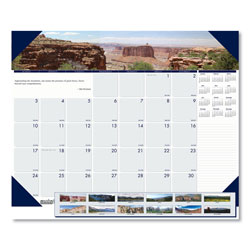 House Of Doolittle Recycled Mountains of the World Photo Monthly Desk Pad Calendar, 22 x 17, 2021