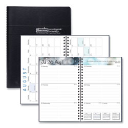 House Of Doolittle Recycled Academic Weekly/Monthly Appointment Book/Planner, 8 x 5, Black, 2021-2022