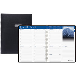 House Of Doolittle Recycled Earthscapes Weekly Appointment Book, 11 x 8 1/2, Black, 2020
