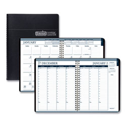 House Of Doolittle Recycled Wirebound Weekly/Monthly Planner, 11 x 8.5, Black Leatherette, 2022