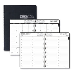 House Of Doolittle Recycled 24/7 Daily Appointment Book/Monthly Planner, 10 x 7, Black, 2022