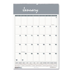 House Of Doolittle Recycled Bar Harbor Wirebound Monthly Wall Calendar, 22 x 31.25, 2022