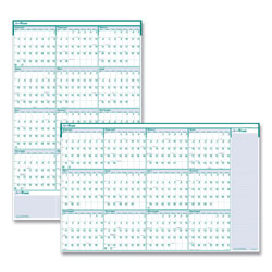 House Of Doolittle Recycled Express Track Reversible/Erasable Yearly Wall Calendar, 24 x 37, 2021