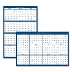 House Of Doolittle Recycled Poster Style Reversible/Erasable Yearly Wall Calendar, 18 x 24, 2022