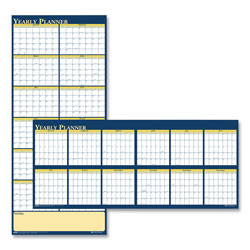 House Of Doolittle Recycled Reversible Yearly Wall Planner, 60 x 26, 2021