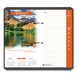 House Of Doolittle Earthscapes Desk Calendar Refill, 3.5 x 6, 2021