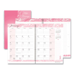 House Of Doolittle Recycled Breast Cancer Awareness Monthly Planner/Journal, 10 x 7, Pink, 2021