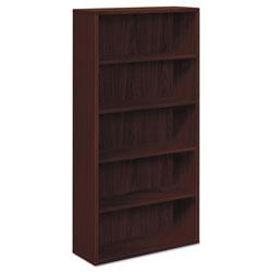 Hon 10500 Series Laminate Bookcase, Five-Shelf, 36w x 13-1/8d x 71h, Mahogany