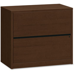 Hon 2 Drawer Lateral File, 36 in x 20 in x 29-1/2 in, Mahogany