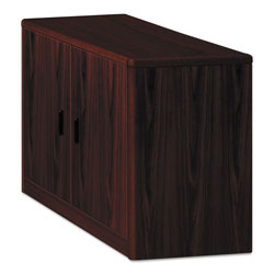 Hon 10700 Series Locking Storage Cabinet, 36w x 20d x 29 1/2h, Mahogany