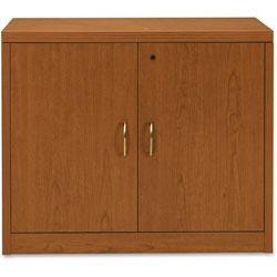 Hon Storage Cabinet, 36 in x 20 in x 29-1/2 in, Bourbon Cherry