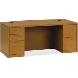 Hon Double Pedestal Desk, 72 in x 36 in x 29-1/2 in, Bourbon Cherry