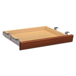 Hon Laminate Angled Center Drawer, 22w x 15.38d x 2.5h, Cognac