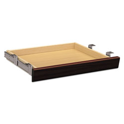 Hon Laminate Angled Center Drawer, 22w x 15.38d x 2.5h, Mahogany