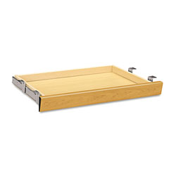 Hon Laminate Angled Center Drawer, 26w x 15.38d x 2.5h, Harvest