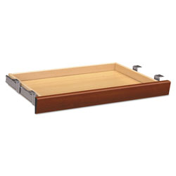 Hon Laminate Angled Center Drawer, 26w x 15.38d x 2.5h, Cognac