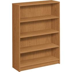 Hon 1870 Series Bookcase, Four Shelf, 36w x 11 1/2d x 48 3/4h, Harvest
