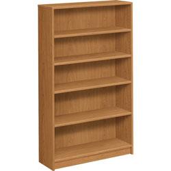 Hon 1870 Series Bookcase, Five Shelf, 36w x 11 1/2d x 60 1/8h, Harvest