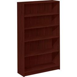 Hon 1870 Series Bookcase, Five Shelf, 36w x 11 1/2d x 60 1/8h, Mahogany