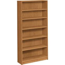 Hon 1870 Series Bookcase, Six Shelf, 36w x 11 1/2d x 72 5/8h, Harvest