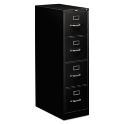 Hon 310 Series Four-Drawer Full-Suspension File, Letter, 15w x 26.5d x 52h, Black