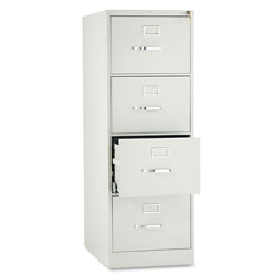 Hon 510 Series Four-Drawer Full-Suspension File, Legal, 18.25w x 25d x 52h, Light Gray