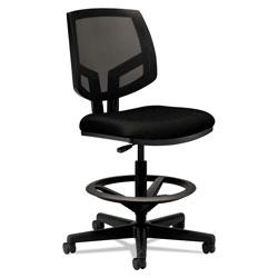 Hon Volt Series Mesh Back Adjustable Task Stool, 32.38 in Seat Height, Up to 275 lbs., Black Seat/Black Back, Black Base