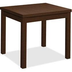 Hon Laminate Straight Table, 24 in x 20 in x 20 in, Mocha