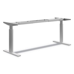 Hon Coordinate Height-Adjustable Base, 72 in h x 24 in d x 25.5 in to 45.25 in h, Nickel