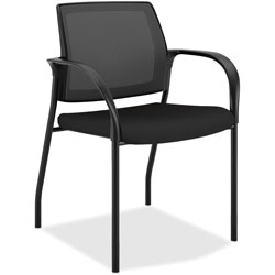 Hon Stacking Chair with Glides, 25 in x 21-3/4 in x 33-1/2 in, Centurion Black