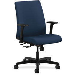 Hon Task Chair, Low-Back, Adjust Arms, 27-1/2 in x 36 in x 41 in, Navy