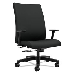 Hon Ignition Series Big and Tall Mid-Back Work Chair, Supports up to 450 lbs., Black Seat/Black Back, Black Base