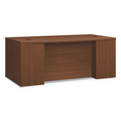 Hon Foundation Breakfront Desk Shell Bow Front, 72w x 42d x 29h, Shaker Cherry