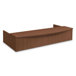 Hon Foundation Reception Station with Bow Front, 72w x 36d x 14.25h, Shaker Cherry