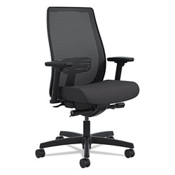 Hon Endorse Mesh Mid-Back Work Chair, Supports up to 300 lbs., Black Seat/Black Back, Black Base