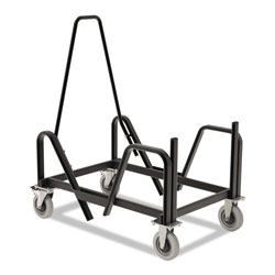 Hon Motivate Seating Cart High-Density Stacking Chairs, 21.38w x 34.25d x 36.63h, Black