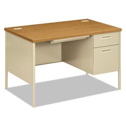 Hon Metro Classic Right Pedestal Desk, 48w x 30d x 29.5h, Harvest/Putty